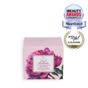 body cream Peony firming cream with quince extract Estonian skincare Kaire Miiter anti-aging