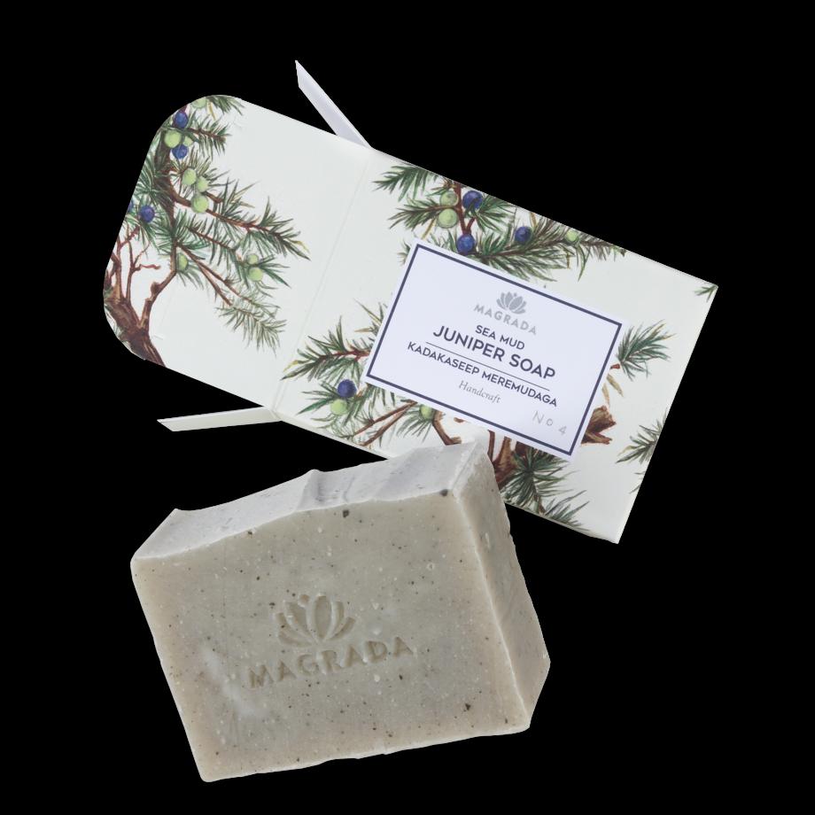 magarada kadakaseep haapsalu meremudaga ravimudaga käsitööseep seep käsitöö puidune looduslik orgaaniline juniper soap with sea mud