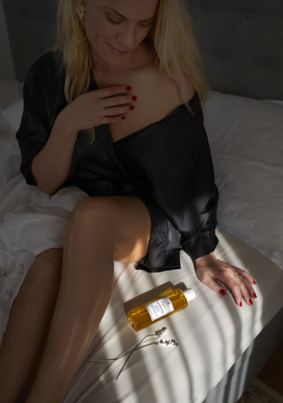 lavendliõli kehaõli rahustav lavendel eesti kosmeetika niisutav pehmendav rahustav