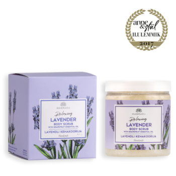 lavendli kehakoorija greibi essentsõliga magrada lõõgastav koorija