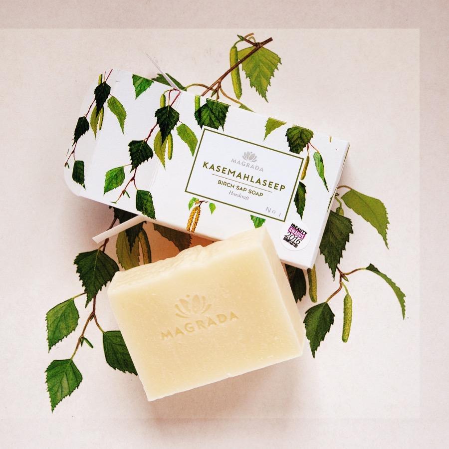magrada award-winning birch sap soap nordic natural organic soap body soap face soap hand soap award-winning Estonian allergy association internationally award-winning recognized EMA notices