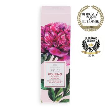 luxurious peony shower oil softening and moisturizing nordic estonian skincare beauty shower oil